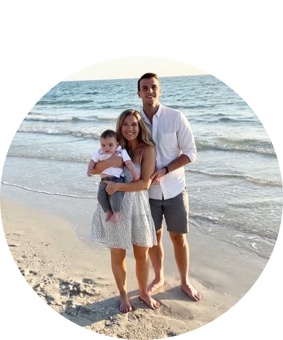 Clay Garrison fun photo on the beach with his family