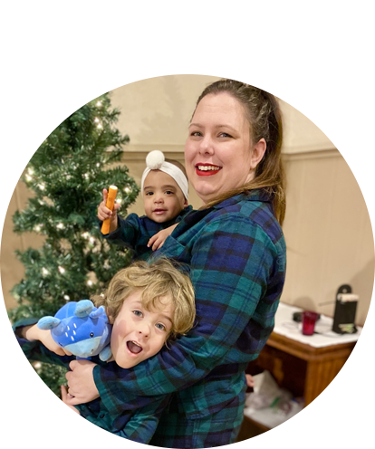 Jackie Pingel Fun Photo holding children at home