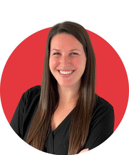 Maddie McCracken Headshot with Red Background
