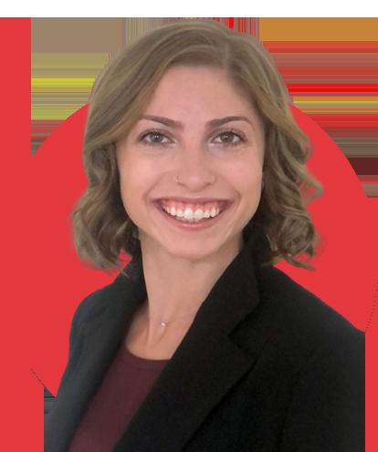 Jessica Eilks Headshot with Red Background